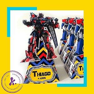 Caixa cone Transformers 1 com aplique 3D