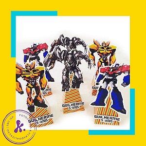 Caixa cone Transformers 2 com aplique 3D