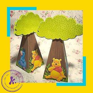 Caixa Cone Ursinho Pooh com aplique 3D