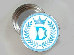Embalagem com 20 adesivos Realeza azul