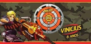 Adesivo para cofrinho personalizado Nerf