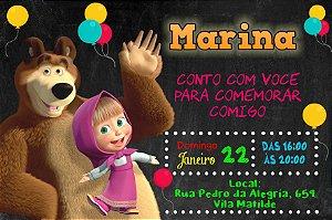 Convite digital personalizado Masha e o Urso 011