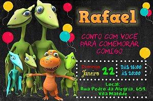 Convite digital personalizado Dinotrem 008