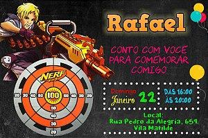 Convite digital personalizado Nerf 006