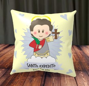 Almofada Personalizada para Festa Santo Expedito