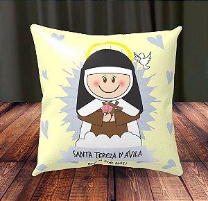 Almofada Personalizada para Festa Santa Tereza D'Avila Flores