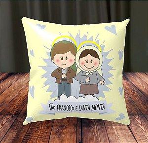 Almofada Personalizada para Festa São Francisco e Santa Jacinta