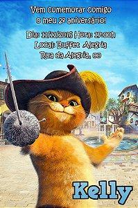 Convite digital personalizado As Aventuras do Gato de Botas 002