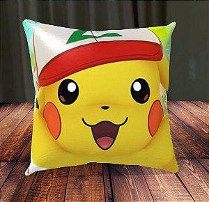 Almofada Personalizada para Festa Pokémon Go Pikachu