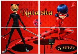 Painel personalizado Miraculous Lady Bug
