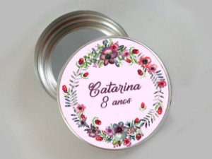 Embalagem com 20 adesivos com Flores 006