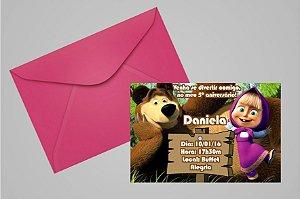 Convite 10x15 Masha e o Urso 001