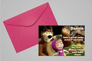 Convite 10x15 Masha e o Urso 002