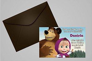 Convite 10x15 Masha e o Urso 006