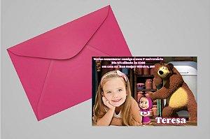 Convite 10x15 Masha e o Urso 007