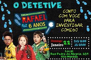 Convite digital personalizado D.P.A, Detetives do Prédio Azul 005