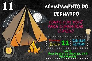 Convite digital personalizado Acampamento 008