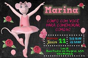 Convite digital personalizado Angelina Bailarina 011