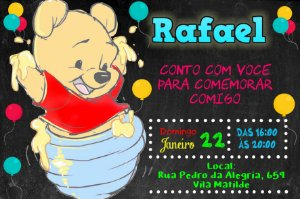 Convite digital personalizado Baby Pooh 013