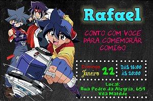 Convite digital personalizado Beyblade 006