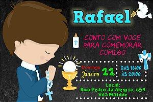 Convite digital personalizado Comunhão 054