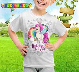 Camiseta Infantil Unicornio 001