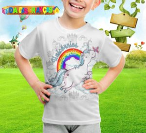 Camiseta Infantil Unicornio 003