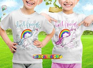 Camiseta Infantil Melhores Amigas Unicornio 005