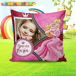 Almofada quadrada Princesa Aurora com foto