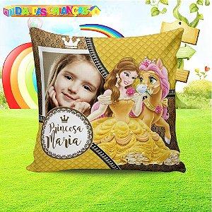 Almofada quadrada Princesa Bela com foto