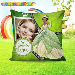 Almofada quadrada Princesa Tiana com foto