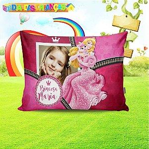 Almofada retangular Princesa Aurora com foto