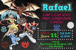 Convite digital personalizado Bakugan 006