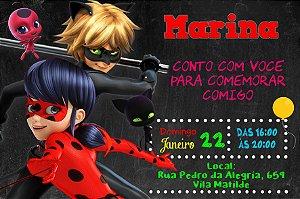 Convite digital personalizado Miraculous Ladybug & Cat Noir 007