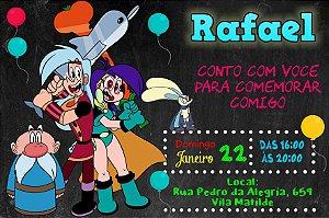 Convite digital personalizado Poderosas Magiespadas 001