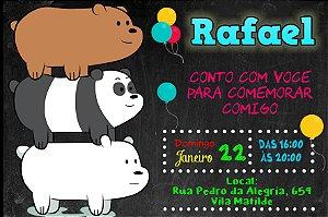 Convite digital personalizado Ursos sem Curso 001