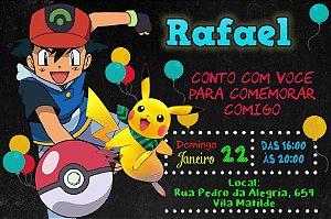 Convite digital personalizado Pokemon 037