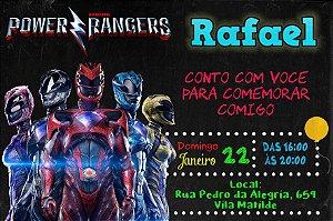 Convite digital personalizado Power Rangers - O Filme 010