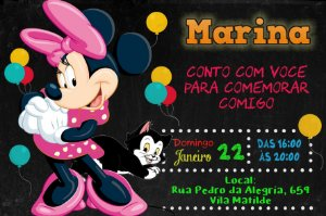 Convite digital personalizado Rosa 033