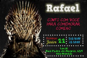 Convite digital personalizado Game of Thrones 006