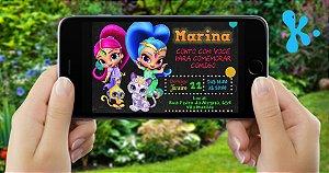 Convite digital personalizado Shimmer e Shine 006