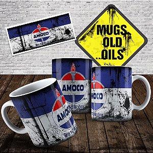 Caneca Lata de óleo Amoco