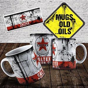 Caneca Lata de óleo Caltex