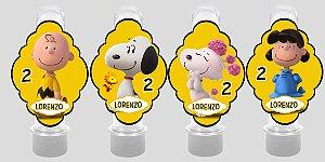 Embalagem com 8 apliques para Tubete Snoopy e Charlie Brown