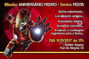 Convite digital personalizado Homem de Ferro 006