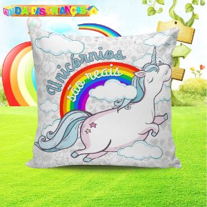 Almofada Personalizada para Festa Unicornio 6