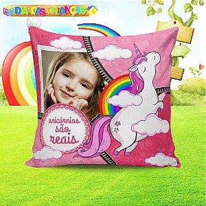 Almofada Personalizada para Festa Unicornio 10