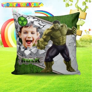 Almofada Personalizada para Festa Hulk