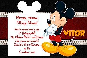 Convite digital personalizado Mickey 010