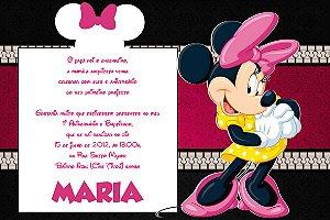 Convite digital personalizado Minnie 033